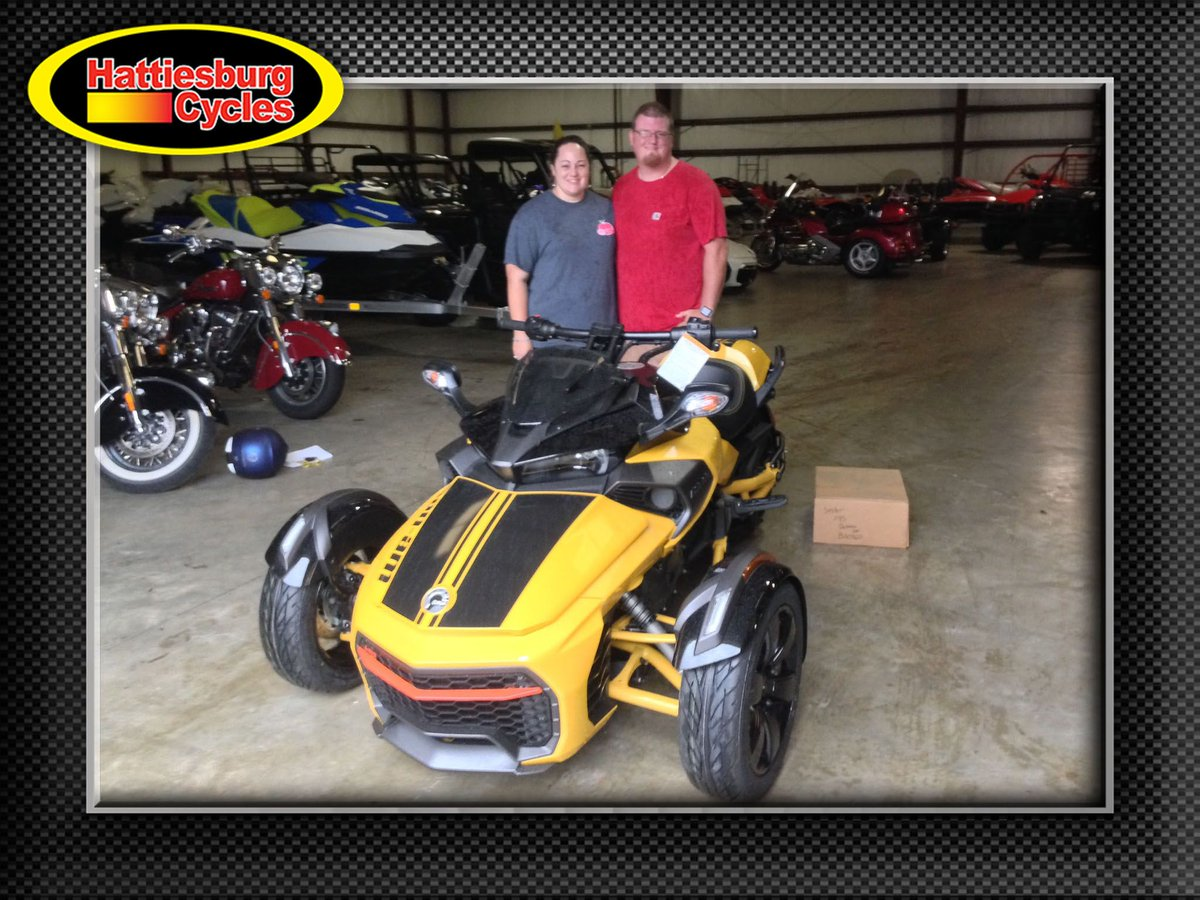 Thank you Misty and Cory Grubbs from Monticello MS for getting a 2017 Can-Am Spyder F3-S Daytona 500 #canam <br>http://pic.twitter.com/DOhuFKf9nm