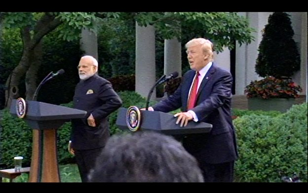 "In Rose Garden with PM Modi, Pres Trump says US-India relationship ""has never been stronger and never been better."""
