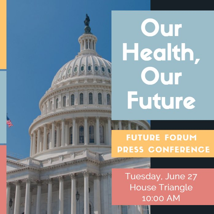 Tomorrow #FutureForum is hosting a press conference on the damaging effects #Trumpcare will have on #millennials. Join us! #MyHealthMyFuture<br>http://pic.twitter.com/v6Q4lWBLfc