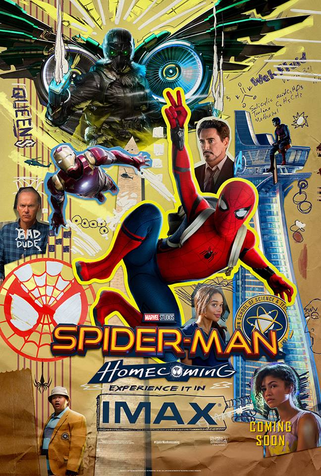 Creatieve Spider-Man Homecoming IMAX poster