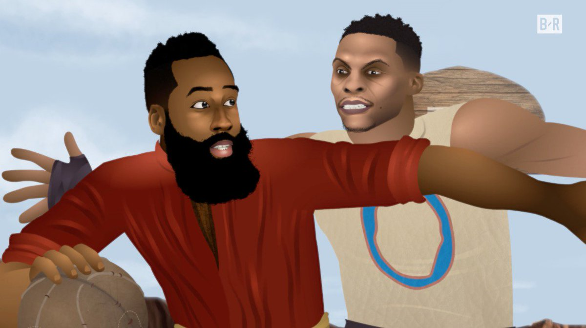 Russ vs. Harden gets decided tonight 🏆  Entire season of Game of Zones...