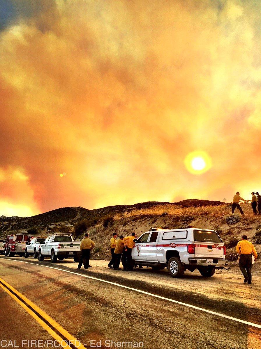 Another photo of our #ManzanitaFire. Photo credit: Ed Sherman @fireima...