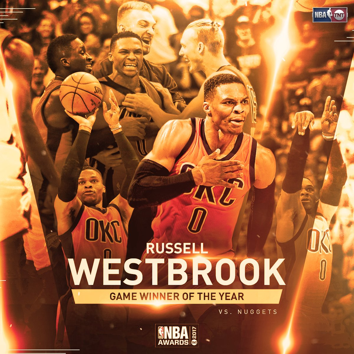 Russell Westbrook wins the fan vote for Game Winner of the Year! #NBAA...