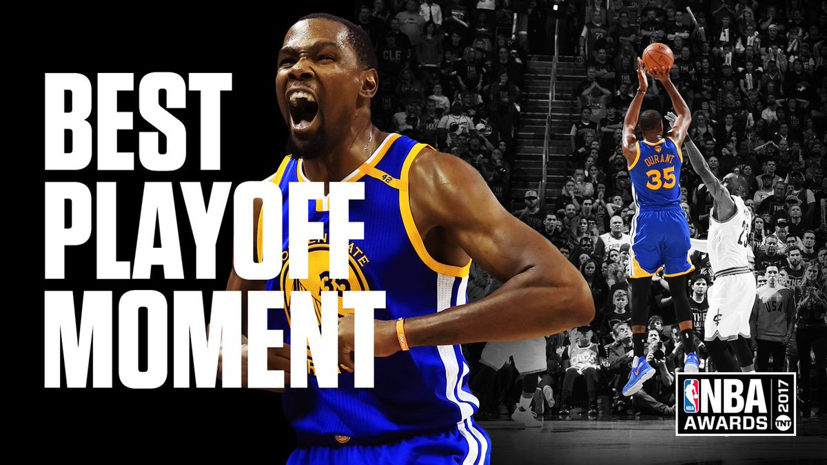 The fan votes wrap up with @KDTrey5 taking Best Playoff Moment! #NBAAw...