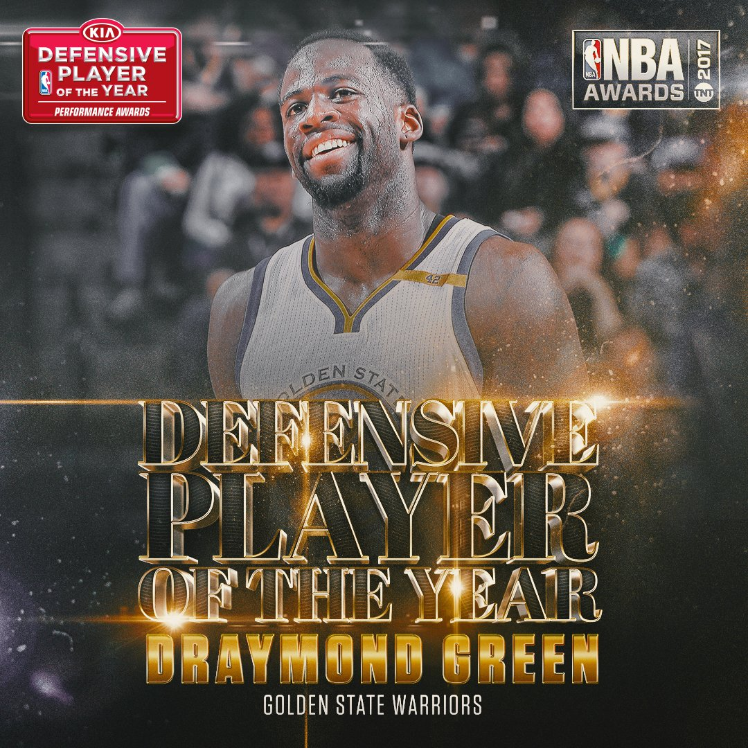 The 2017 @Kia NBA Defensive Player of the Year is...@Money23Green of t...