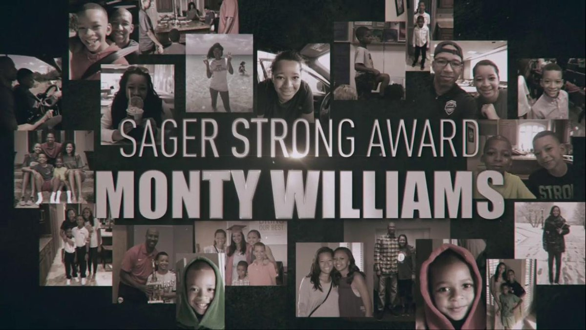 Monty Williams is #SagerStrong.   #NBAAwards https://t.co/y8woQy81Mr