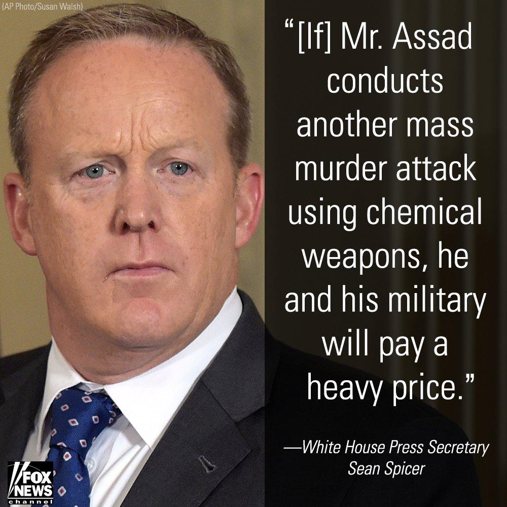 WARNING TO ASSAD: @WhiteHouse says Syria potentially prepping new chem...