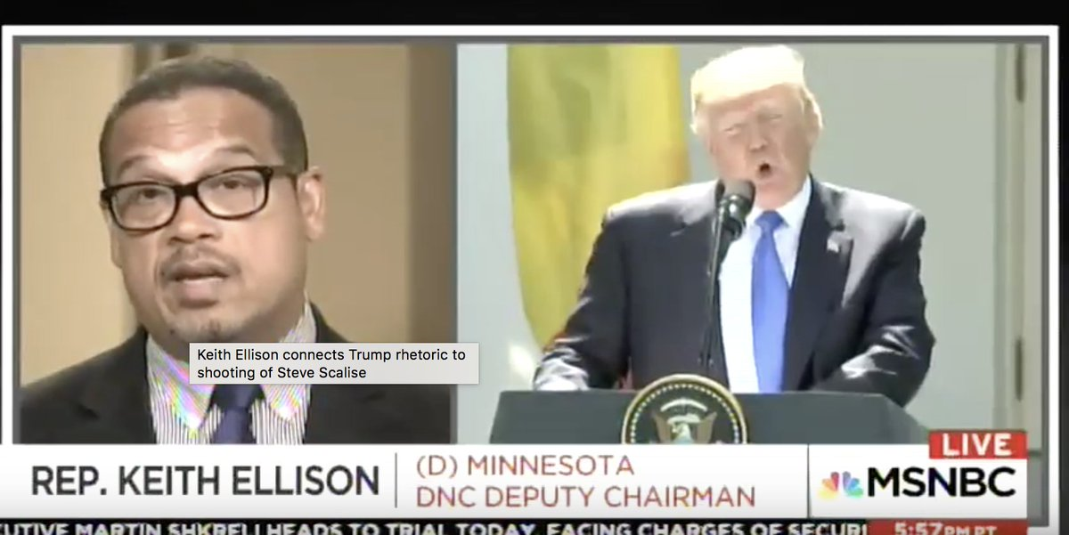 Keith Ellison Connects Trump to Scalise Shooting: He's Created Culture Where Crazed People 'Go Off the Rails' https://t.co/TUZWbkJwHk