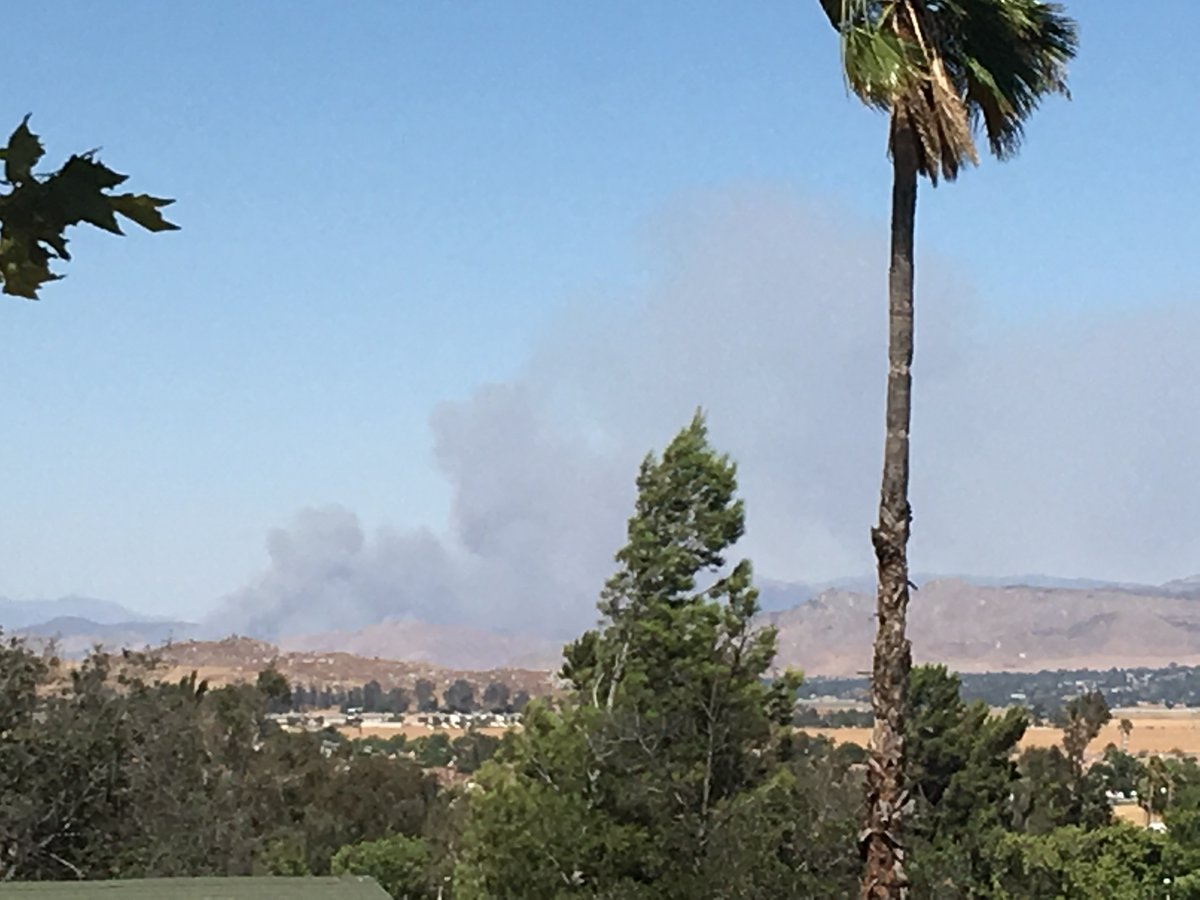 #ManzanitaFIRE photo taken from CAL FIRE HQ in Perris. Credit: CAL FIR...