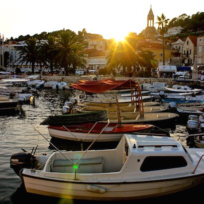 Island views of #sunset from #Hvar #Croatia More Pics -&gt;&gt; http:// bit.ly/1kmDuj3  &nbsp;   #Travel #Holiday <br>http://pic.twitter.com/FYAag1AKtW