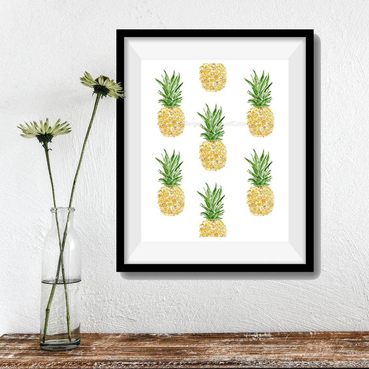 Pineapples tropical kitchen art  https://www. etsy.com/thejoyofcolor/ listing/201604253/pineapples-art-print-kitchen-art?ref=shop_home_active_2 &nbsp; …   #pineapple #tropical #artwork #kitchen #homedecor #tfoodie #art  #ftuitsart<br>http://pic.twitter.com/RhUsZpGul5