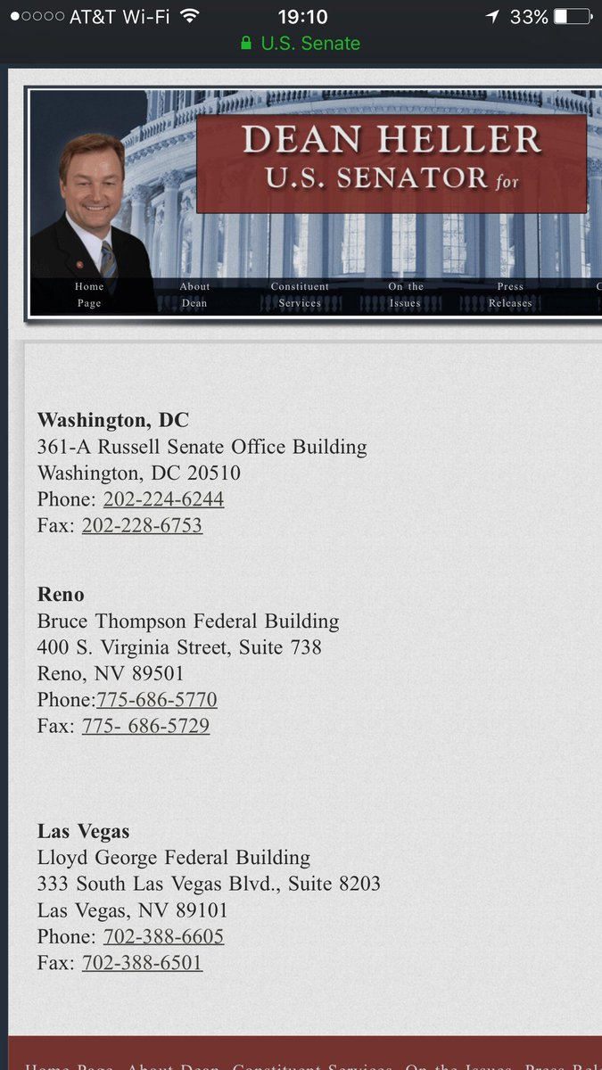 Please send out: Phone #s in photo  for Sen. Dean Heller. He is key to hold line on #BRCA.  Needs to know he will earn some honor for it.<br>http://pic.twitter.com/LkGL1ZNp2w