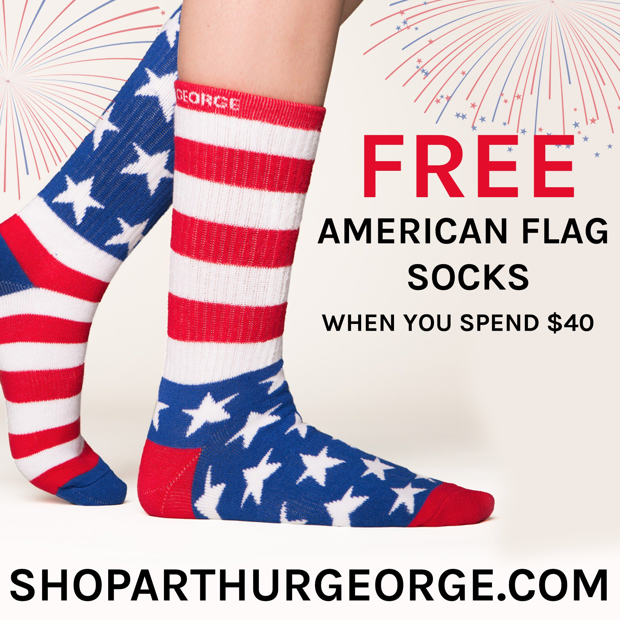 Get your FREE @arthurgeorge socks for Fourth of July!! https://t.co/FEeSGVVAAI https://t.co/FRBz19cjgt