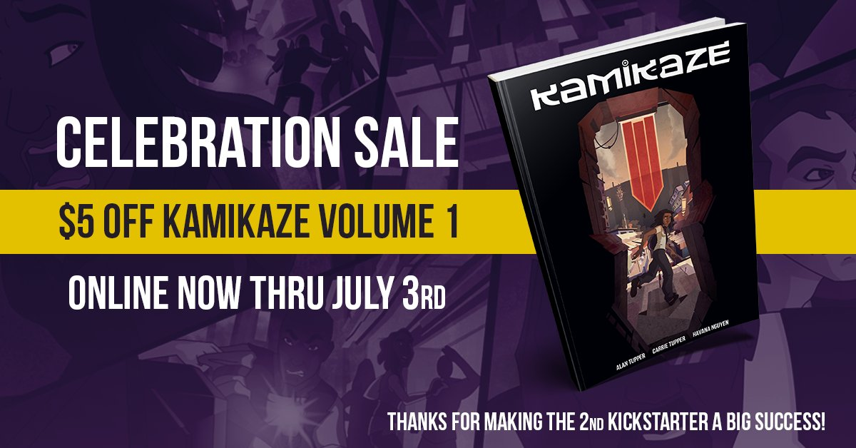 We&#39;re celebrating the 2nd #Kickstarter&#39;s success with a sale on Volume 1! Get it @gumroad:  https:// gumroad.com/l/kmkzbook1/ce lebrate &nbsp; …  #comics #book #sale<br>http://pic.twitter.com/RIvdH0EYwm