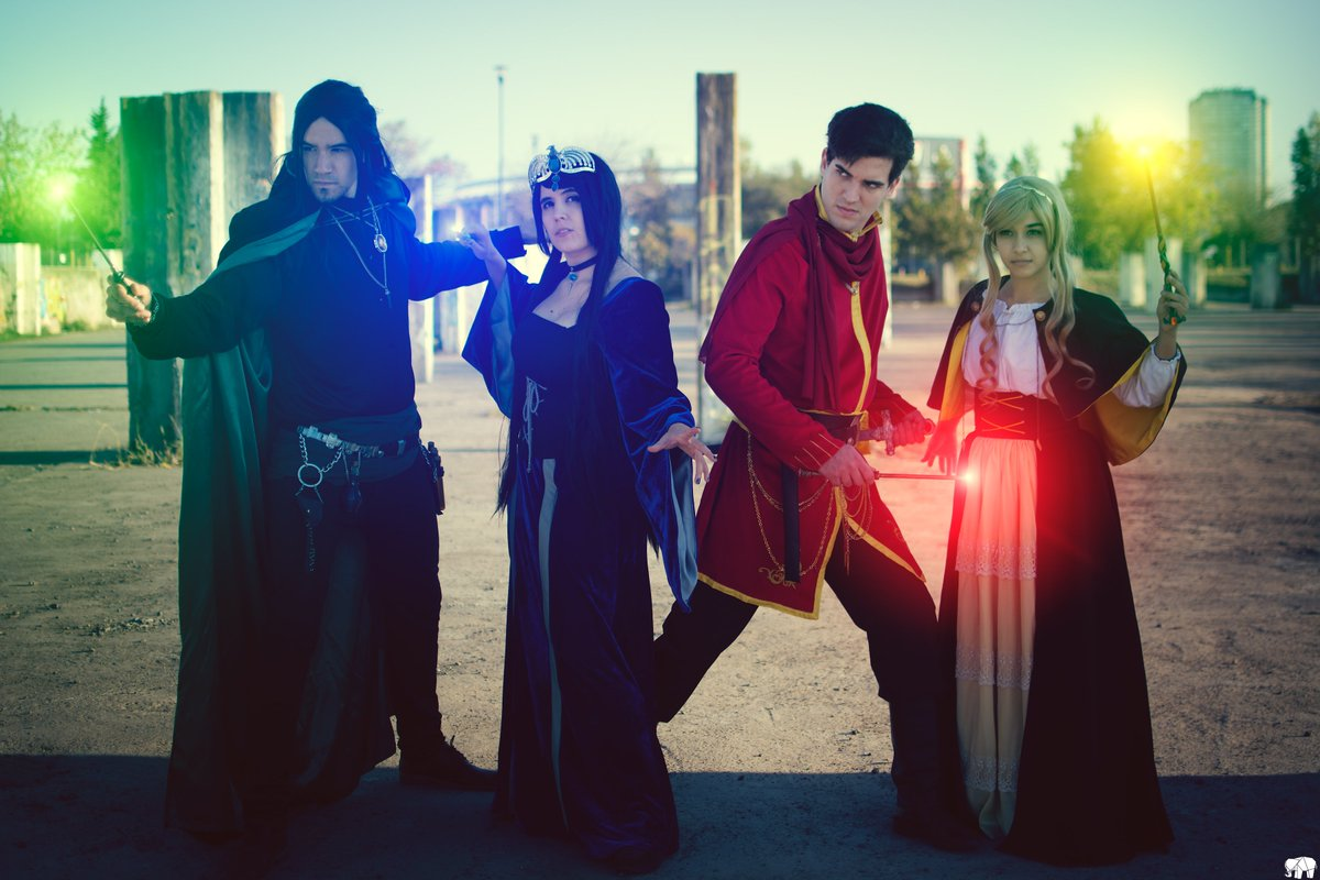 And the real deal! #hogwartsfounders #cosplay #ravenclaw #slytherin #gyffindor #Hufflepuff  @ShareMyCosplay @TITANSofCOSPLAY @CosplaySharer<br>http://pic.twitter.com/G3B1jEPyBz