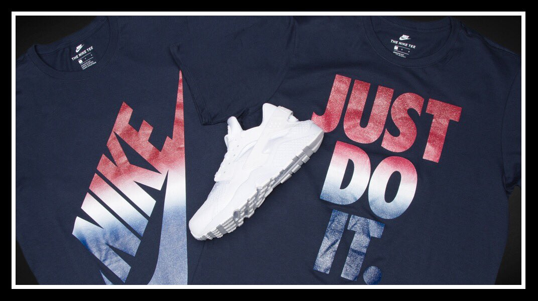 The 4th of July is almost here!   Stay fly while you celebrate with #Nike -  tees now in stores. <br>http://pic.twitter.com/5KM11tXK8a