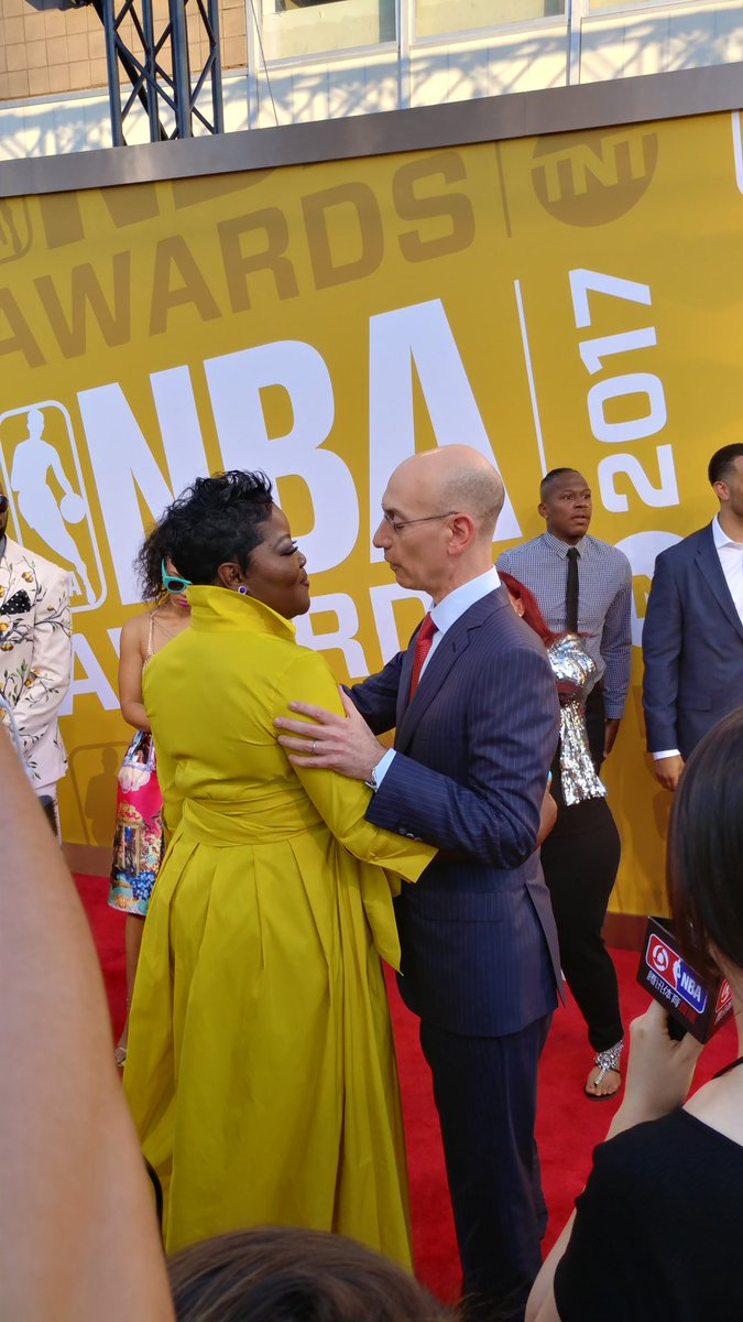 Get someone who looks at you the way Adam Silver looks at Wanda Durant...