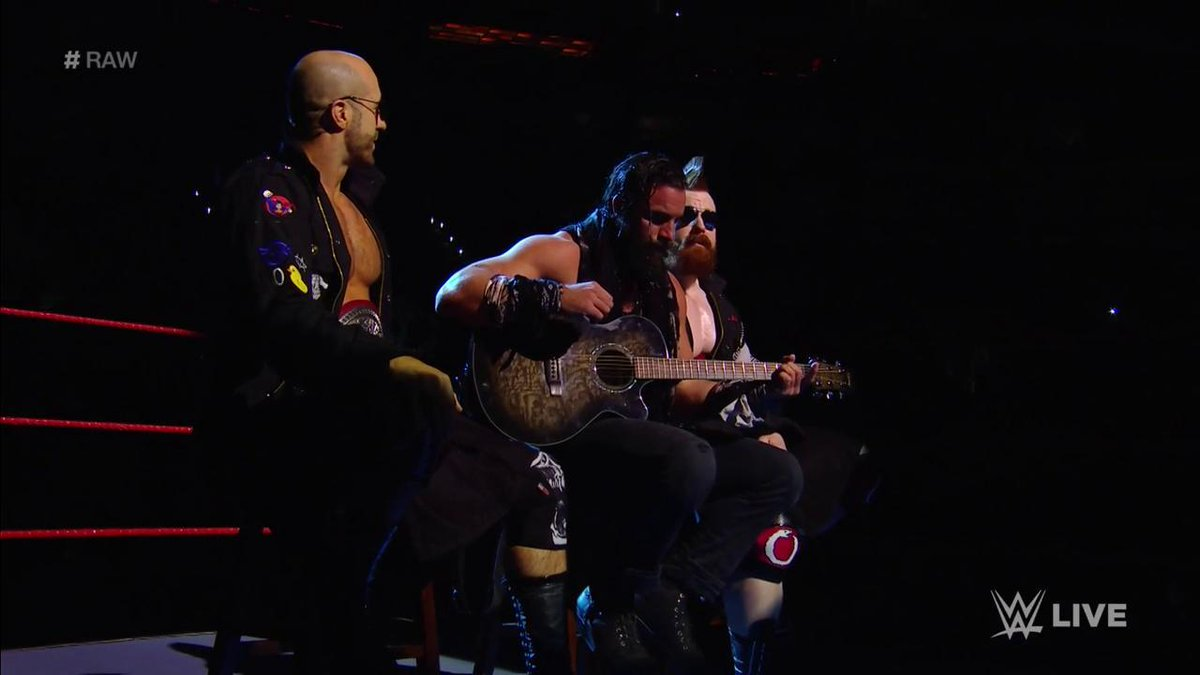 We've got a musical trio tonight in the form of @IAmSamsonWWE @WWECesaro & @WWESheamus! #RAW 🎶🎶