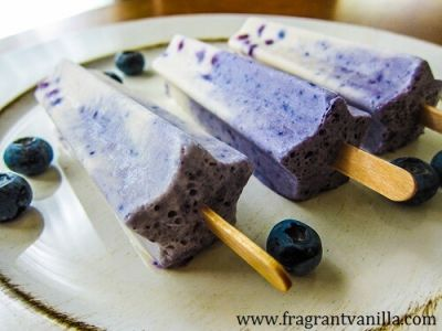 Vegan Blueberry Cheesecake Popsicles