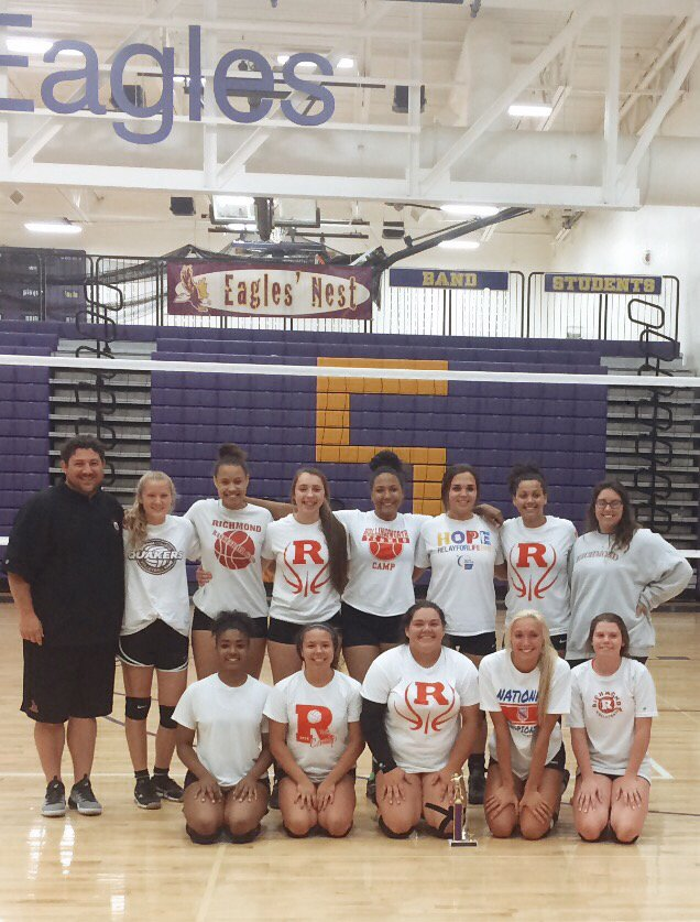 Our Lady Devils started out the preseason strong!  Eaton Summer League Champs!!  Nicely done girls!!!  #werrichmond #volleyball #champs <br>http://pic.twitter.com/XmiwYUBRuG