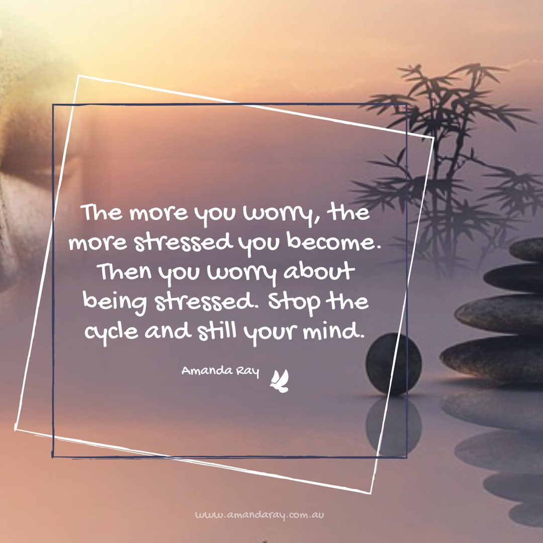Nothing is #gained by #worrying or #stressing about #things you can&#39;t #control #practice #mindfulness or #meditation to #calm your #mind <br>http://pic.twitter.com/2MMCrJsmdL