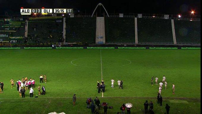 Aldosivi-Olimpo interrumpido a los 32 minutos del segundo tiempo por falta de luz.