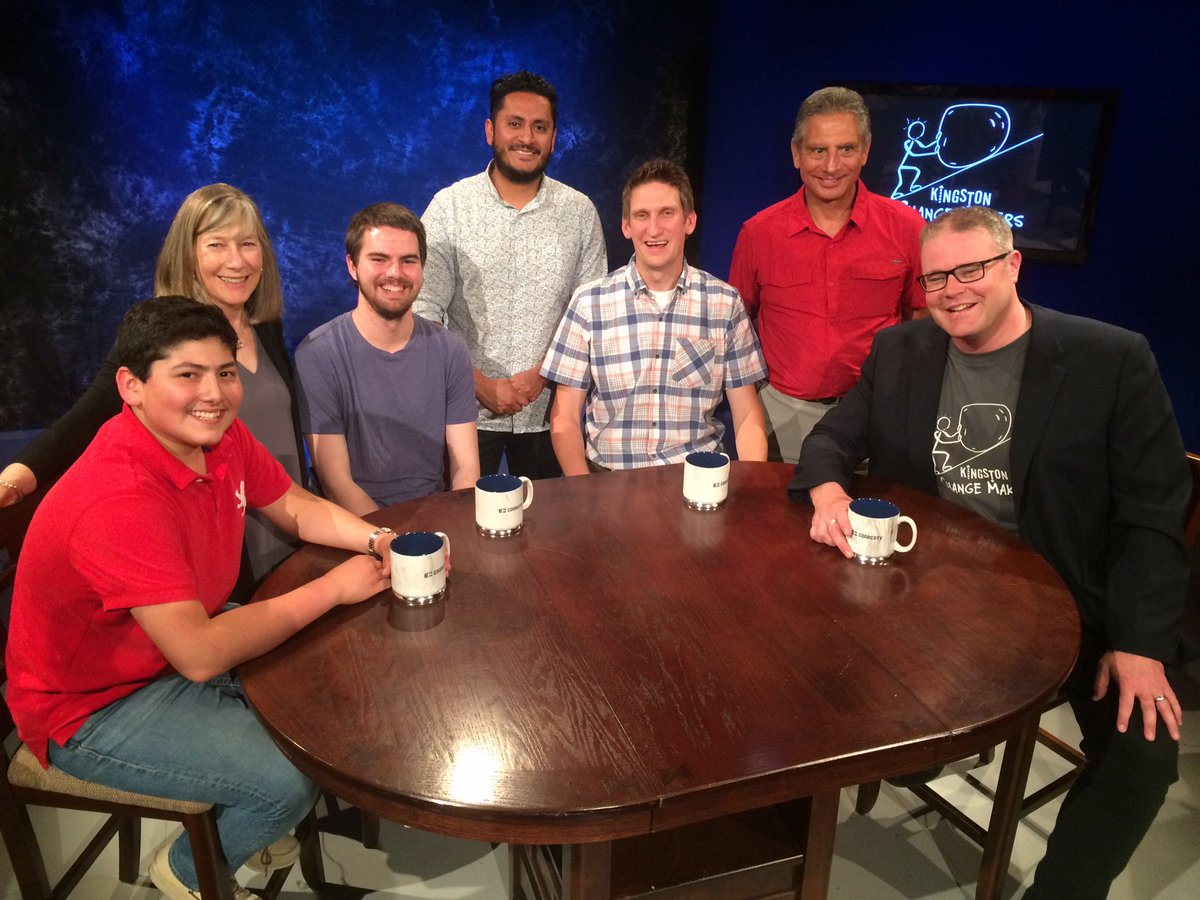 @P2EKingston was in the studio tonight taping the next episode of Kingston Change Makers with host @SustainableDan...cast and crew pics #YGK <br>http://pic.twitter.com/qBvfMdibEy