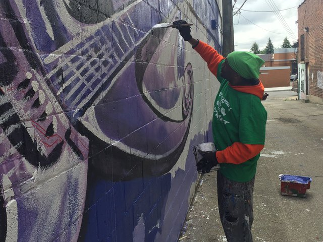 HAPPY BIRTHDAY 2 Chazz Miller, The Artist Who Did Our Mural