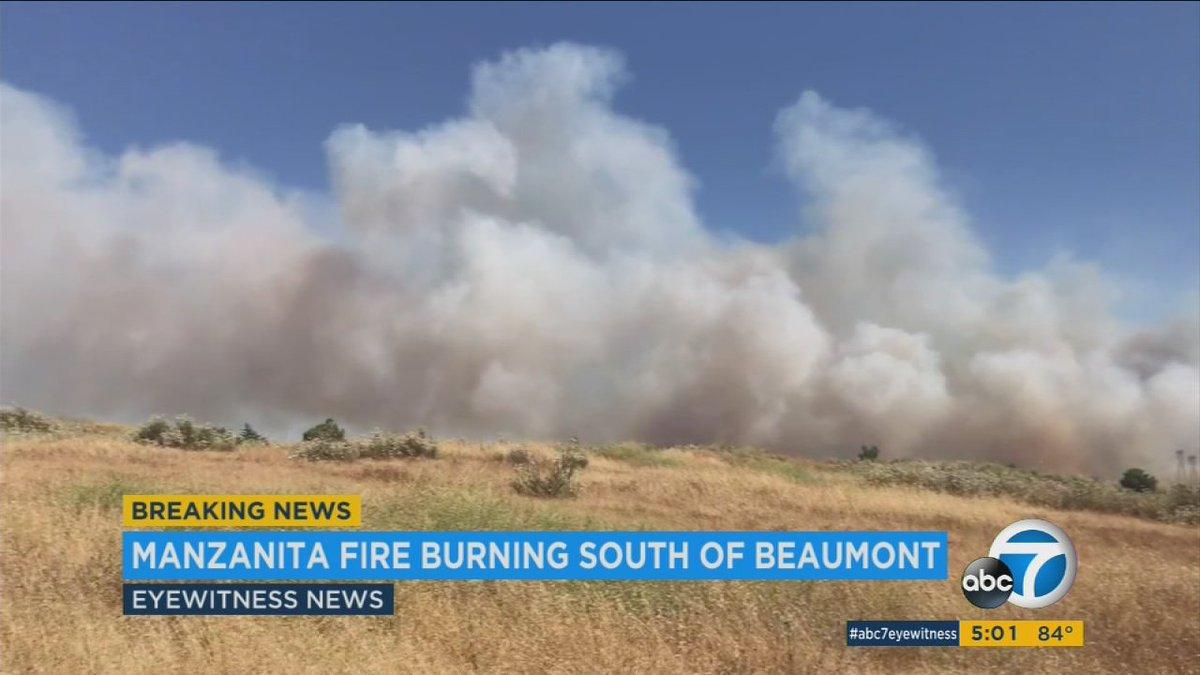BEAUMONT UPDATE: #ManzanitaFire in Beaumont grows to 500 acres; volunt...