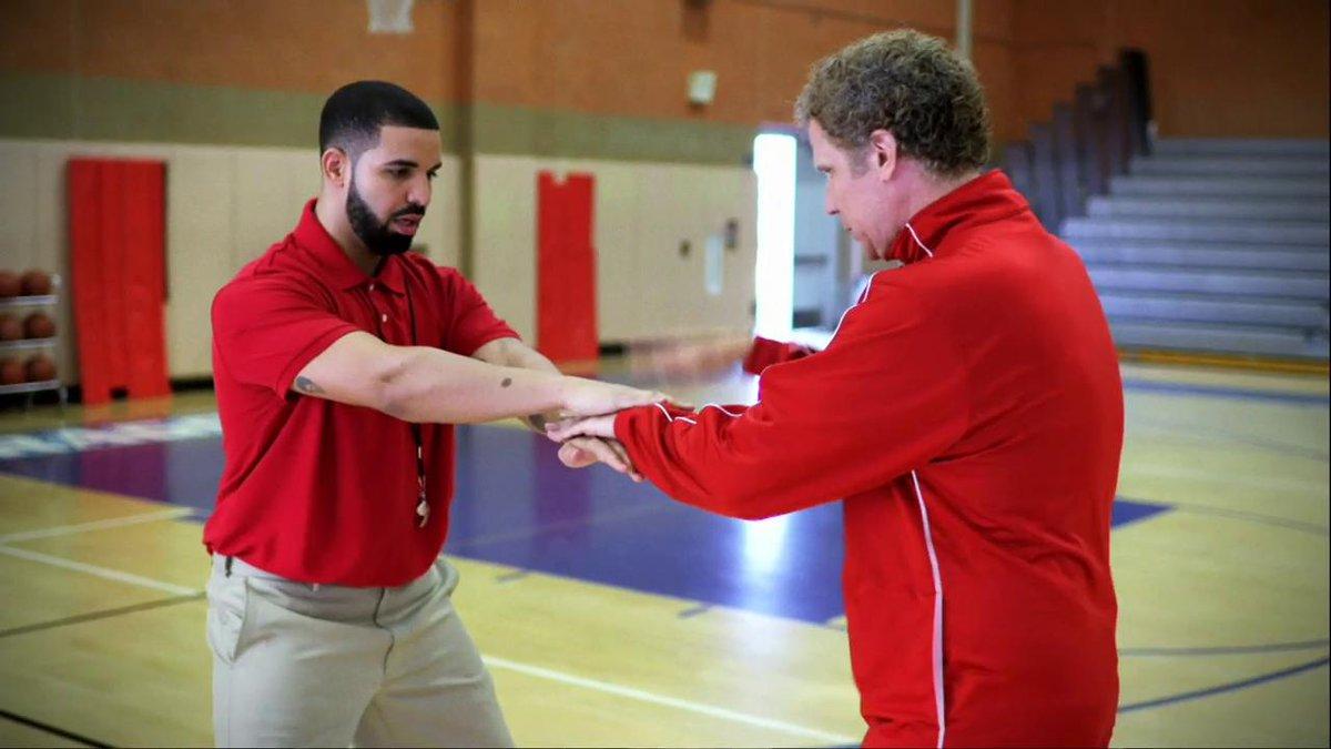Drake and Will Ferrell's handshake skit at the NBA Awards https://t.co...