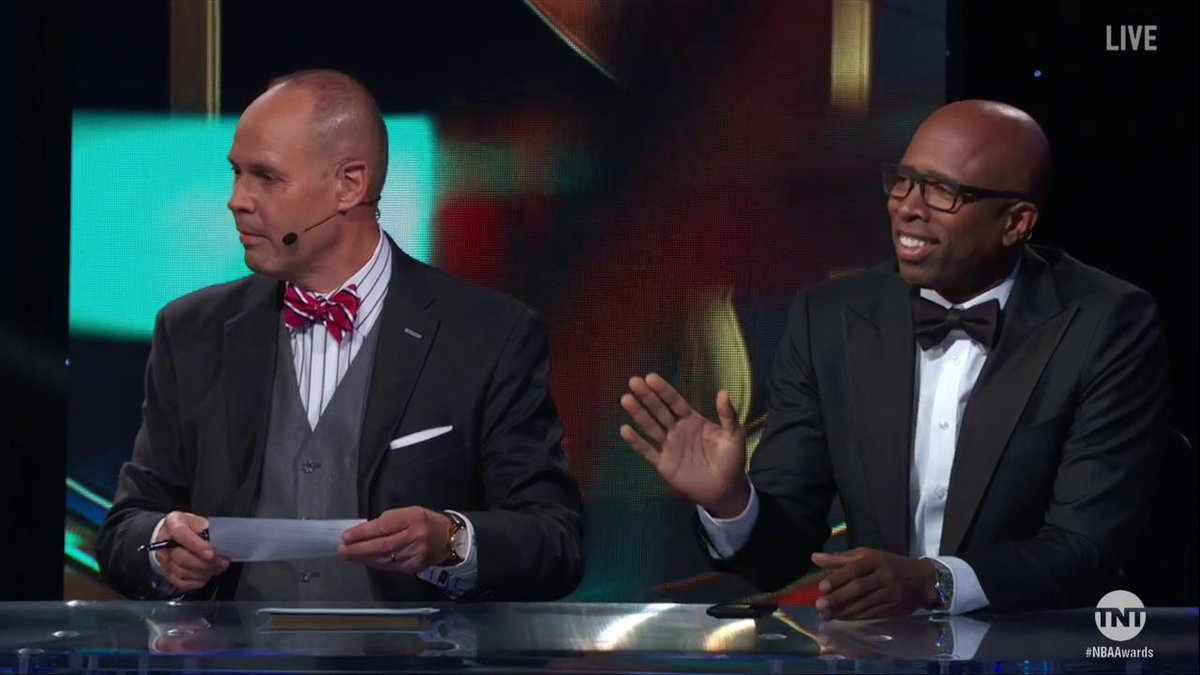 .@TheJetOnTNT couldn't help himself after @Drake's opening at the #NBA...