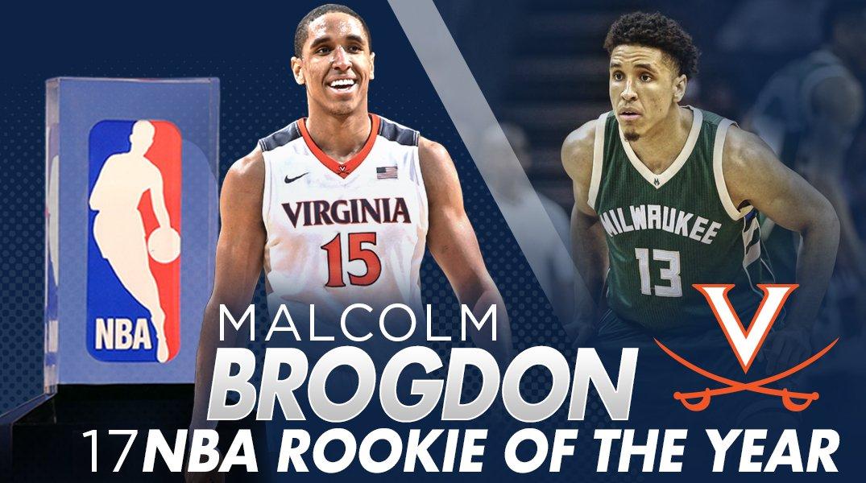 MALCOLM BROGDON = 2017 KIA NBA ROOKIE OF THE YEAR! 🔶⚔️🔷 #Wahoowa #GoHo...