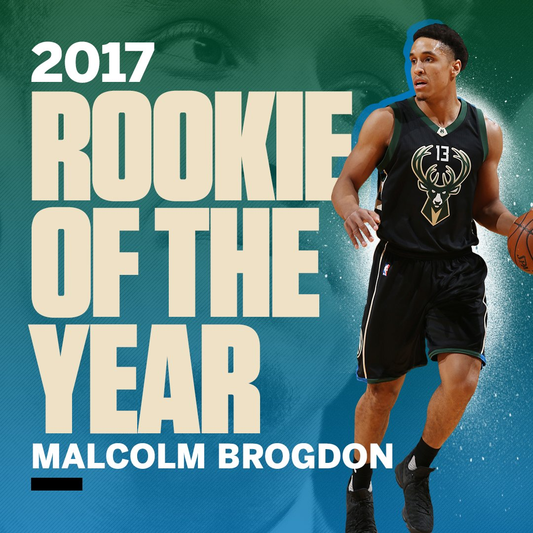 Malcolm Brogdon is your 2017 Rookie of the Year. https://t.co/qRWvryCZ...