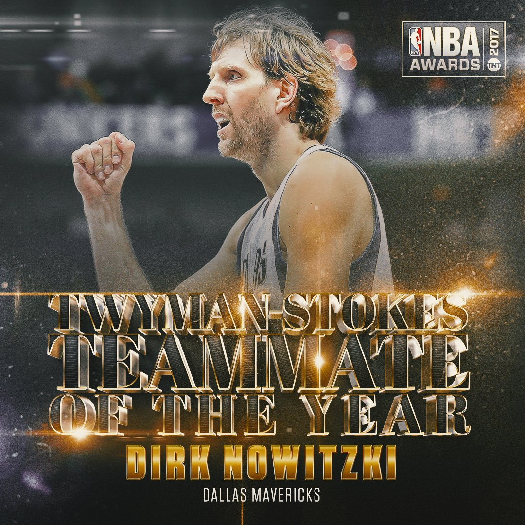 The 2017 Twyman Stokes teammate of the year is @swish41 of the @dallas...