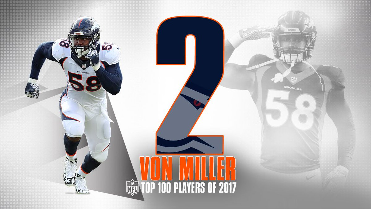 Coming in at No. 2️⃣ on the #NFLTop100 … the one and only @VonMiller!...