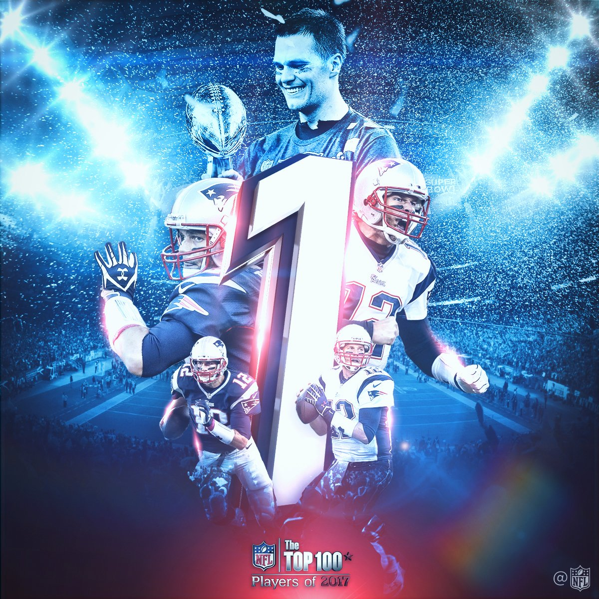 Tom Brady is No. 1 on the #NFLTop100 Players of 2017! https://t.co/hAV...