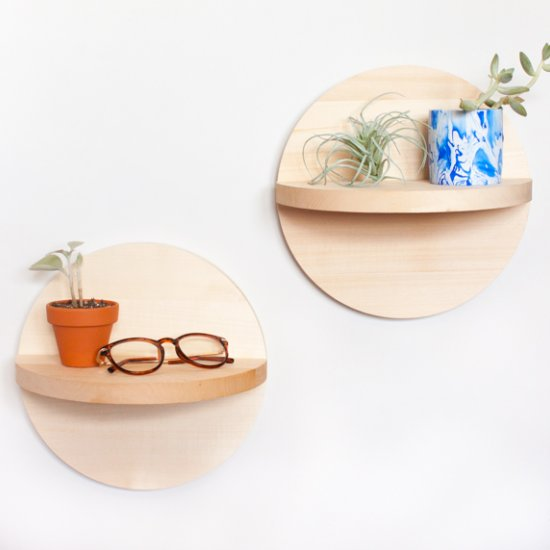 Wooden Circle Shelves