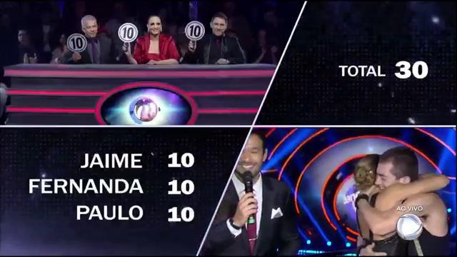 Teo e @jadebarbosabr ficaram com a maior nota da noite na #FinalDancin...