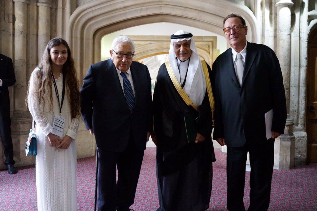 Dr Henry Kissinger, Prince Turki Al Faisal, and Lord Saatchi   #MTSecu...
