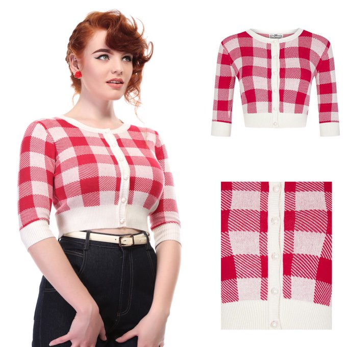 Collectif Lucy Gingham Check Cardigan
