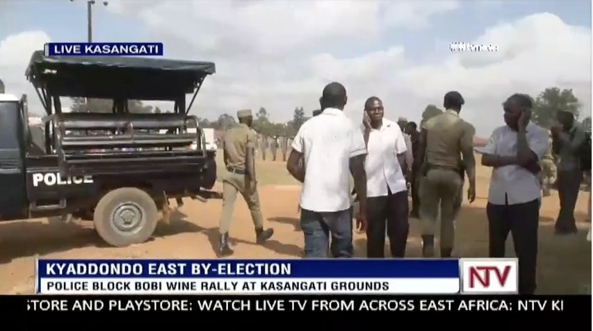 UPDATE: Police storms Bobi Wine's rally venue in Kyadondo, asks suppor...