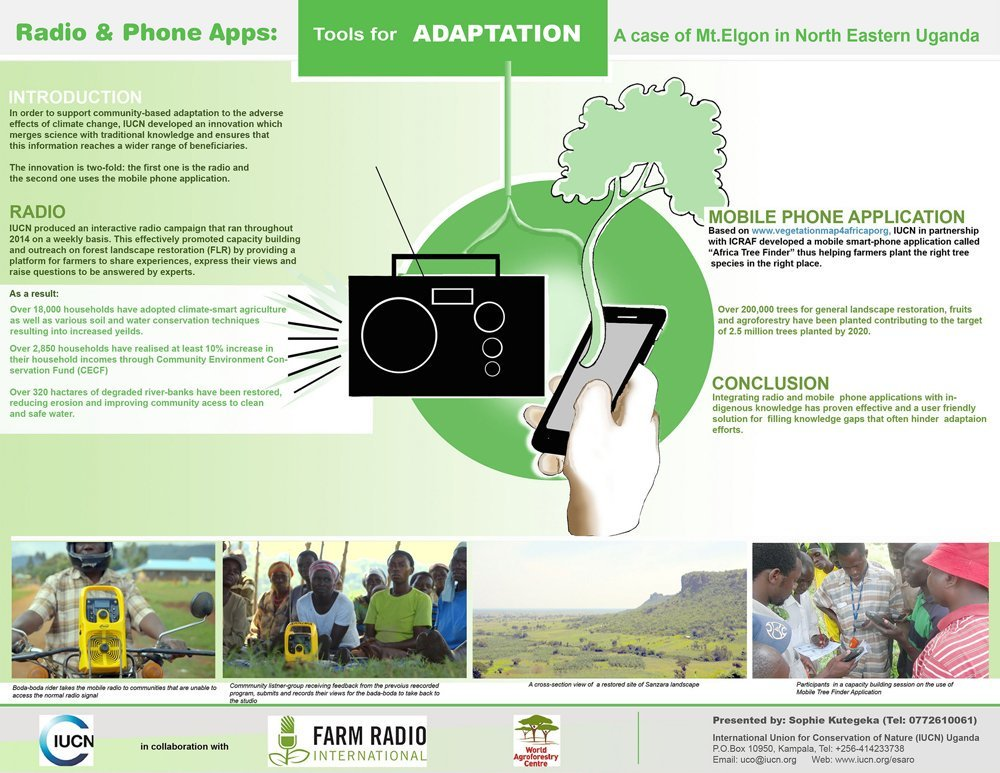 IIED : And the best poster winner at #CBA11 is... IUCN's Tools for adaptation: radio & phone apps -->… … https://t.co/jzz5teaUvZ) https://t.co/O3ETg7GRxe