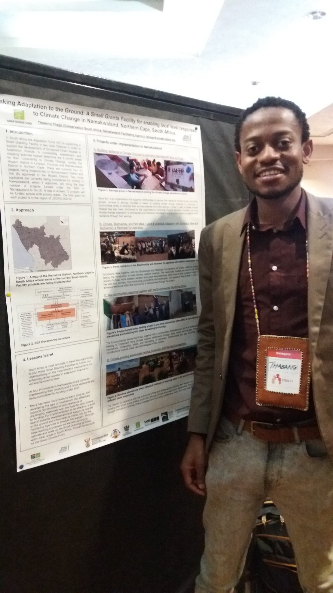Congratulations @PhagoThabang for coming in second place for #posterpresentation on #smallgrantsfacility at #cba11 #uganda @ConservationOrg https://t.co/0EeR0SHgRi
