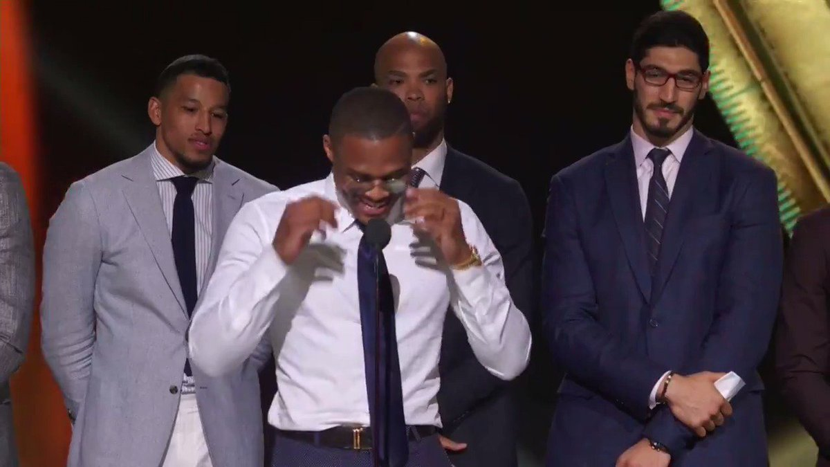 """""""I told myself I wasn't gonna cry but…""""  Russ gets emotional thanking..."""