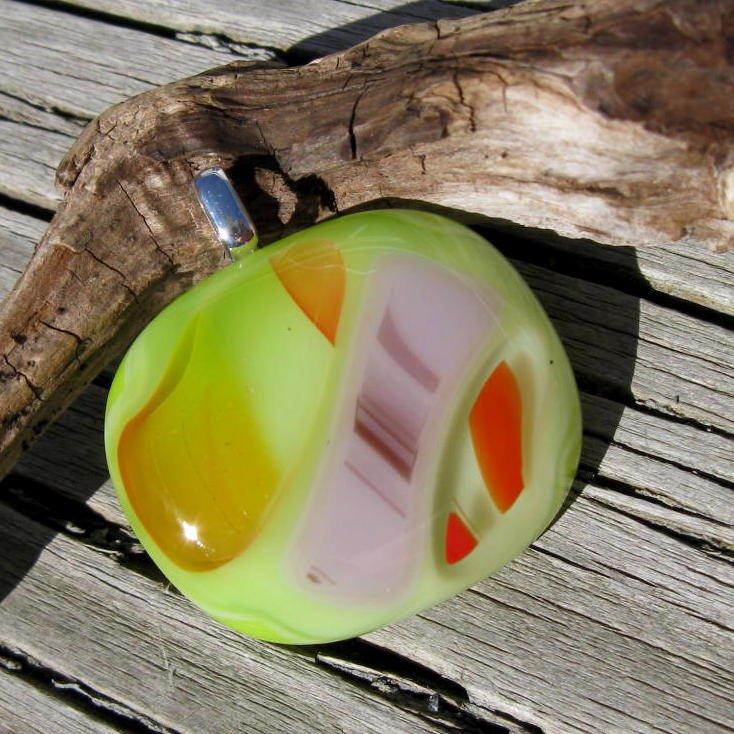 Fiesta Fused Art Glass Pendant  http:// tuppu.net/25309a30  &nbsp;   #jetteam #Funky <br>http://pic.twitter.com/TunbxXgl3i