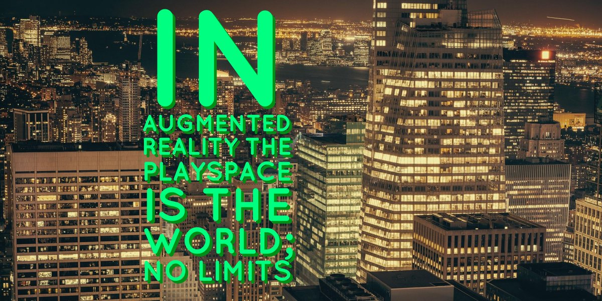 &quot;In #AR your placespace is the world&quot; #mondaymotivation #tech #innovation #indiedev #VR #AI #IoT<br>http://pic.twitter.com/q4NWch2ODB
