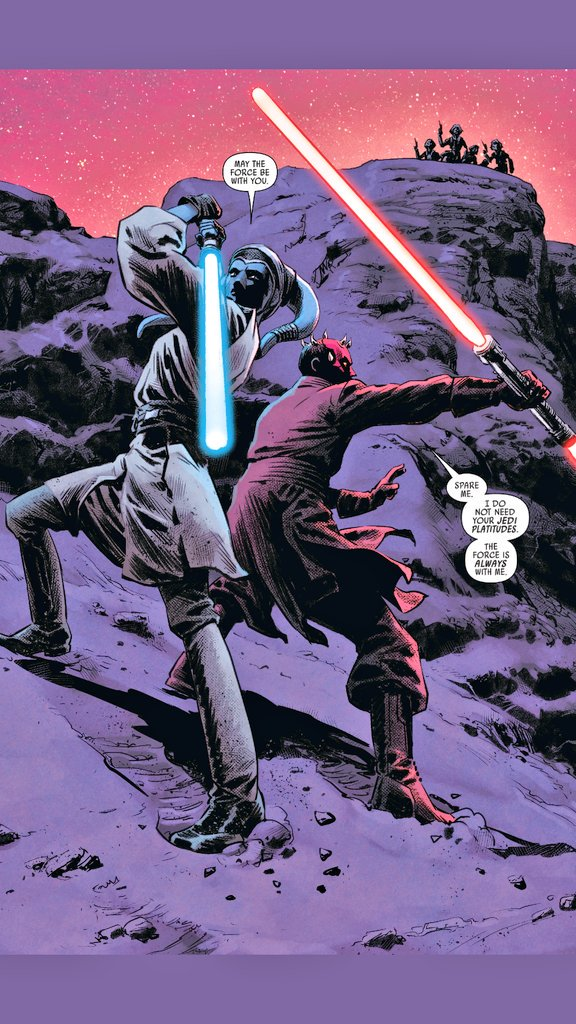 Jedi: May the Force be with you.  Sith: The Force is always with me.  #StarWars #Marvel #comics #DarthMaul<br>http://pic.twitter.com/VDEoR4rWpz
