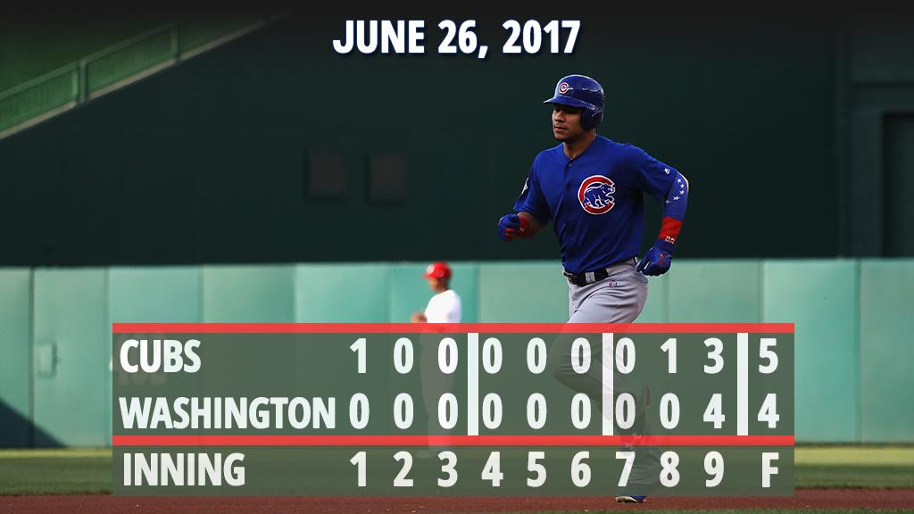 .@WContreras40 homers, @javy23baez wows on defense as #Cubs win opener...