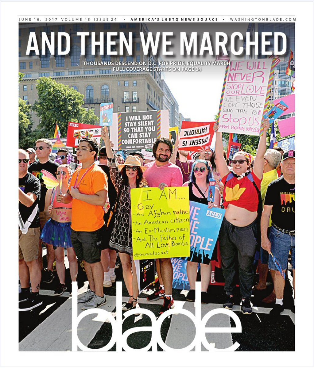 I was on the front cover of @WashBlade. #dcpride