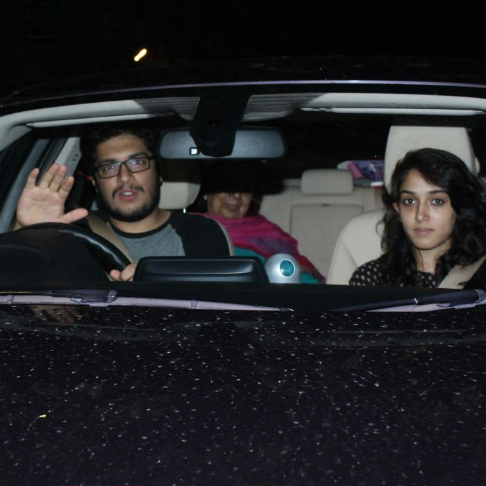 At @BeingSalmanKhan's Eid Party, @aamir_khan's Kids, Ira And Junaid, S...